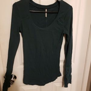 Free people thermal with cute sleeve detail